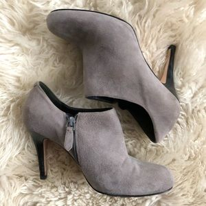 Gray Suede Cole Haan Ankle Boots